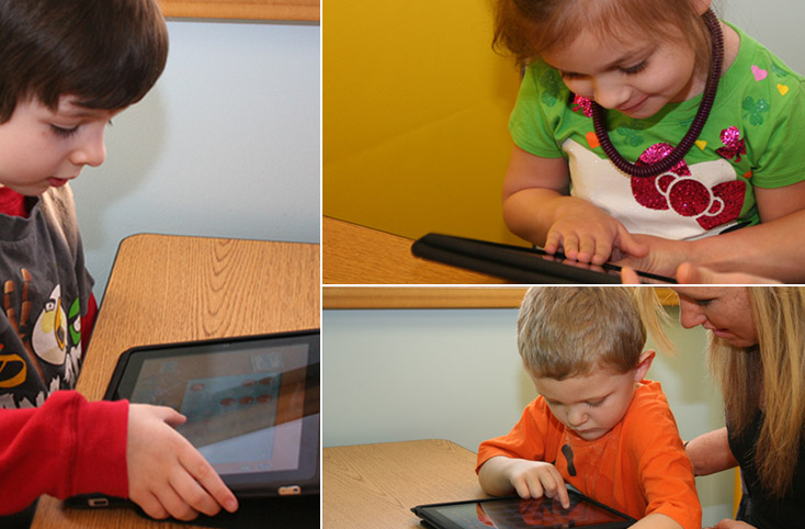 Kids with iPads